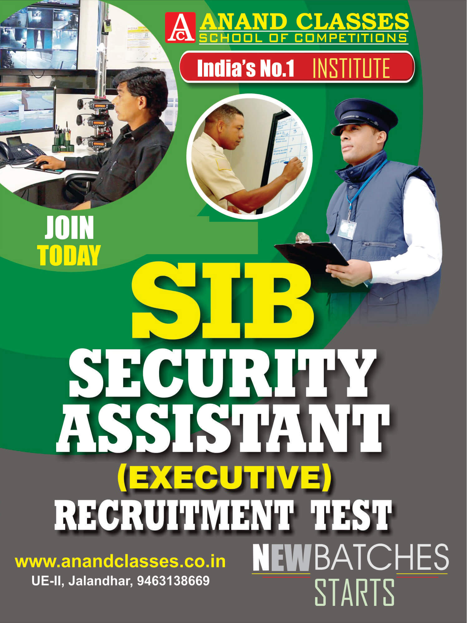 SIB Security Assistant Exam Coaching Center In Jalandhar Neeraj Anand Classes